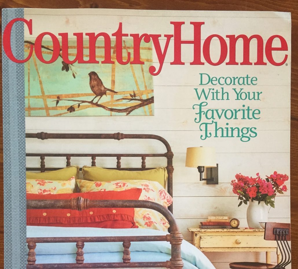 Country Home Magazine 2015 Decorate With What You Love Vintage Pattern Color