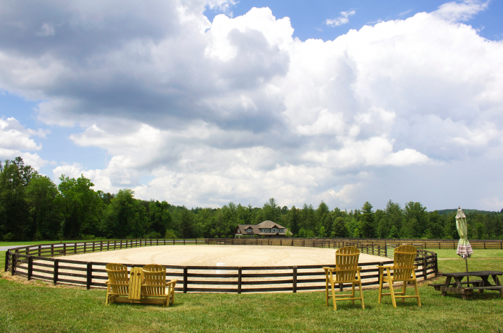 outdoor staging area at Catawba River Club